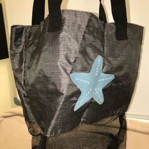Thirty-One Mesh Cinch Sac in Charcoal Crosshatch